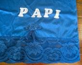 Vintage Slip. Blue. Iron-on Letters. Size M.