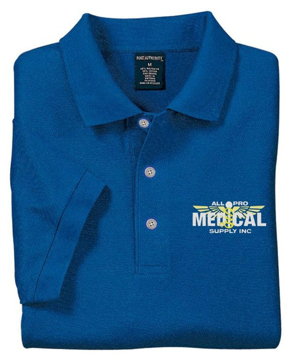 Unavailable listing on etsy for Corporate polo shirts with logo
