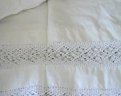 Pillowcase with Double Row of Wide Crochet