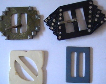 Bakelite Belt Buckles, Four