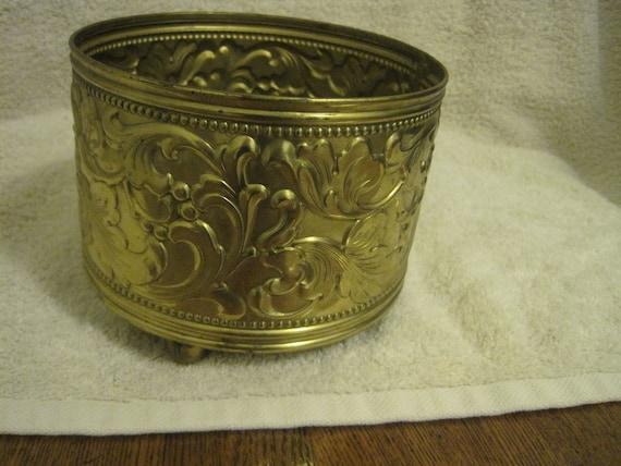 Vintage Irving Schwartz Contempora solid brass planter