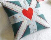 Teal Union Jack Cushion