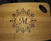 Small personalized bamboo cutting board