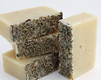 Organic Soap - Lavender and Oatmeal / Face and Body Cleanser  (Vegan, Palm Free, Cruelty Free)