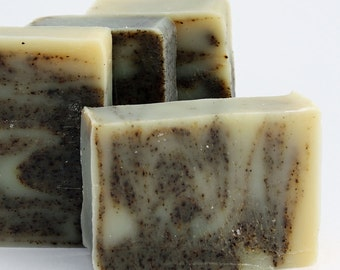 Organic Soap - Green Tea and Bergamot / Face and Body Cleanser  (Vegan, Palm Free, Cruelty Free)
