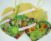Lavender and Chamomile Scented Thank You Gift Grateful Hearts Gift Package Frogs and Yellow