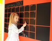 Monthly Chalkboard Calendar - Vinyl Wall Chalkboard