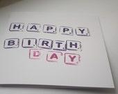 Happy Birthday Scrabble card