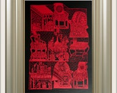 Chinese Paper Cutting - Furniture from the Chinese shadow puppets