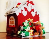 Tissue Box- Christmas House, made to order