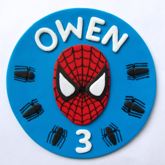 Fondant spiderman cupcake toppers - photo#13