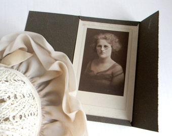 Antique Studio Portrait of the Beautiful Intelligent Woman Photo Circa 1930s Arthur Studio of Detroit Woman wearing round glasses