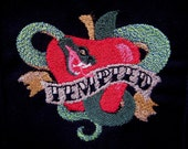 """Patch Embroidered Apple and Snake 4"""""""