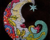 """Patch Suede Embroidered Fantasy Moon 5"""""""