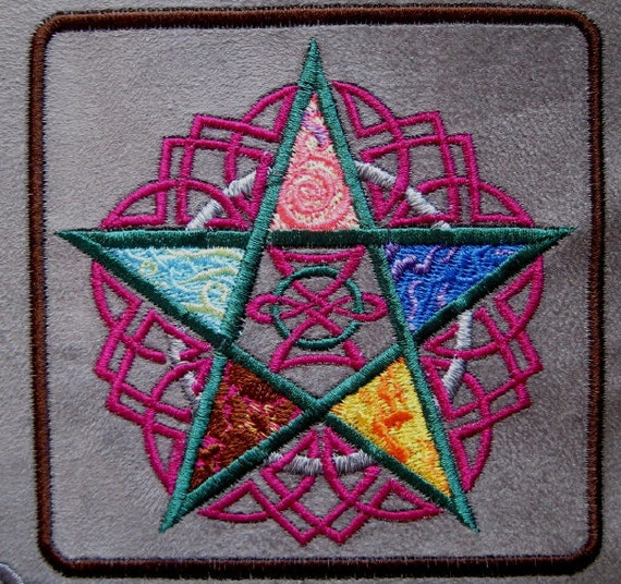 """Patch Embroidered Five Elements 4 """""""