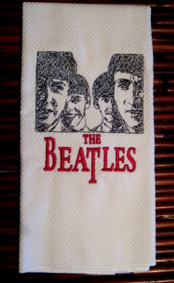 Towel The Beatles Embroidered