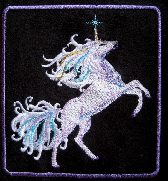 Patch Embroidered Fantasy Unicorn 51/2""