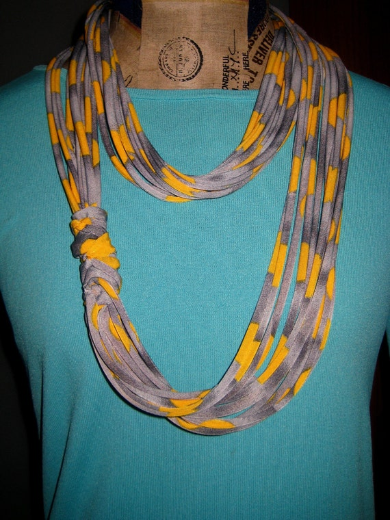 Eco Recycled Shawl Upcycled Necklace RESERVED
