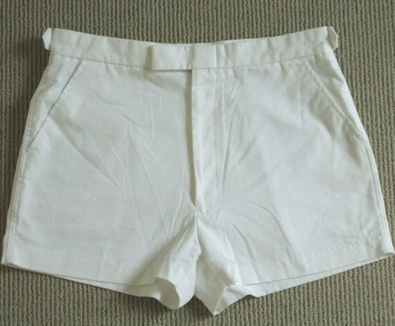 70s/80s Short White Tennis Shorts / Bruce Jenner SIM Sports