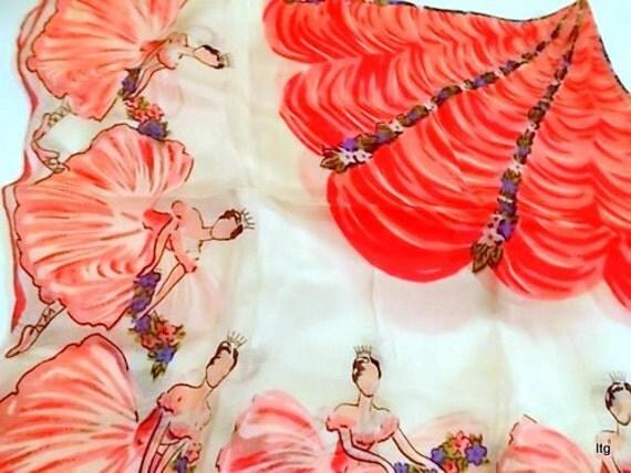 Vintage Ballerina Silk Scarf