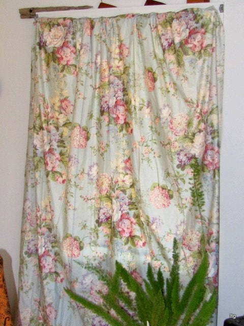 Clearance Sale Price Waverly Curtains Aquamarine Floral 3