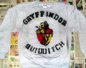 SALE Grey Gryffindor Quidditch Crewneck Sweater (Sizes: S - XL)