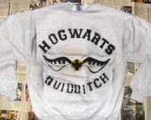 SALE Grey Hogwarts Quidditch Crewneck Sweater (Sizes: S - XL)