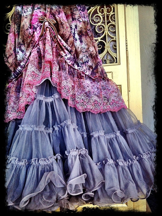 mauve taupe cocoa revived petticoat prairie boho garden party dress by mermaid miss k