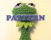 PATTERN Instant Download Kermit the Frog Muppet Baby Rattle Crochet