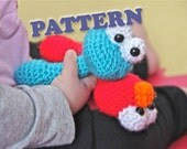 PATTERN Instant Cookie Monster Sesame Street Baby Rattle Crochet