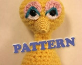 PATTERN Instant Big Bird Sesame Street Baby Rattle Crochet
