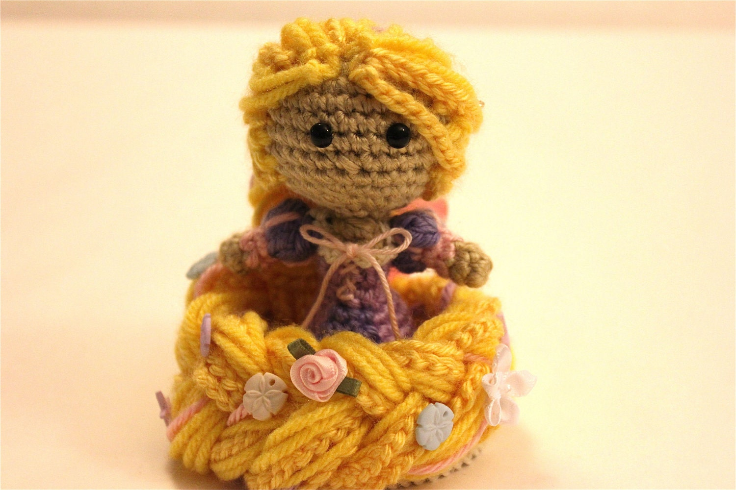Amigurumi Disney Princess : Rapunzel Tangled Princess Crochet Doll Amigurumi