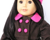 """Corduroy Coat and Hat for 18"""" doll - Free Shipping"""