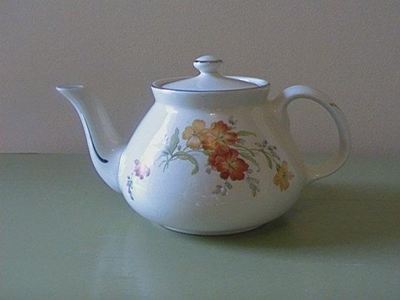 "RESERVED FOR KARL Hall's Kitchenware, china, ""Serenade"" Tea Pot"