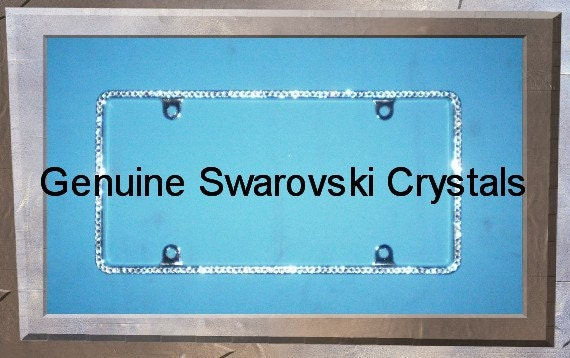 rhinestone license plate frame zoom