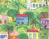 Village Hillside Print
