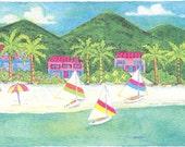 Palm Beach Print/ Charlotte Amalie