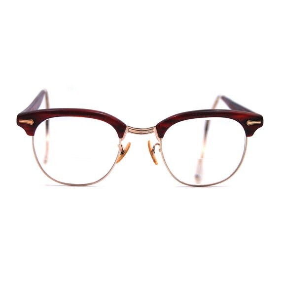 Vintage Eyeglasses Gold Filled Shuron Brown Tortoise