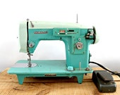 vintage sewing machine, White brand, turquoise, blue, mint green colour, working condition