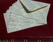 Old book envelopes, upcycled repurposed recycled vintage book