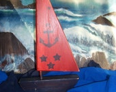 Anchors Aweigh wood sailboat