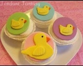 Mama and Baby Duck Cupcake Toppers