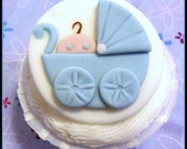 Baby Boy in Buggy Cupcake Topper