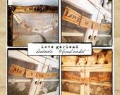 Love Garland - Set of 4 - Valentine - French Market - xo, j&L (GRLD)
