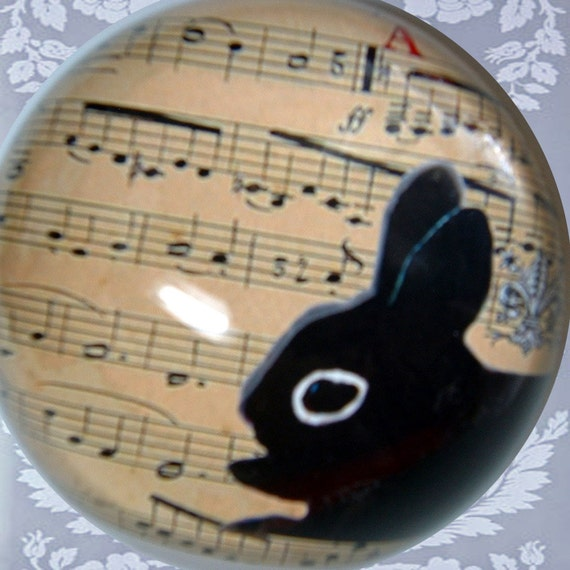 CYBer Mon SALE 20% OFF // Coupon code: HOLIDAY20 // Bunny Rabbit  PAPERWEiGHT, French Vintg Music, Paris Vict Fleur deLis, AniMaL ChArTY Don