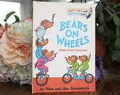 vintage children's book 1960s : Bears on Wheels by Stan and jan Berenstain