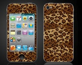 Leopard Print cheetah - iPod Touch 4 4th Gen Vinyl Decal Wrap Skin Cover - Free Shipping - NOT a HARD CASE