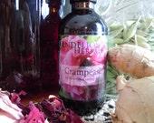 Crampease Blend: to Ease Menstrual Cramps with Crampbark, Valerian, Roses, Ginger, Milky Oat Tops, and Lady's Mantle