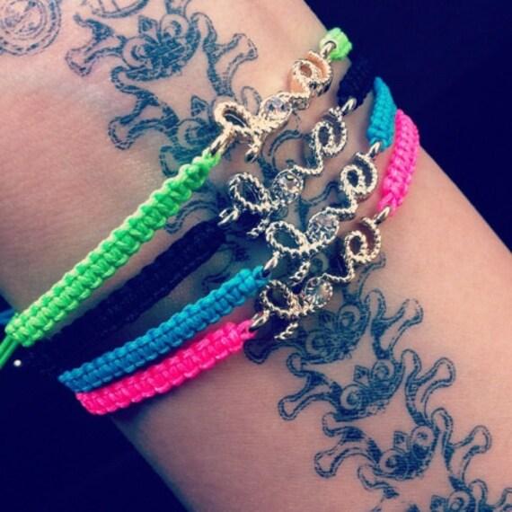 Neon Love Bracelets