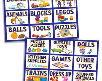 Artistic Children's Toy Labels for Great Organizing